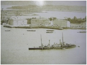 US Warship in Haulbowline 1917
