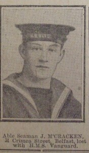 Able Seaman J McCracken, HMS Vanguard