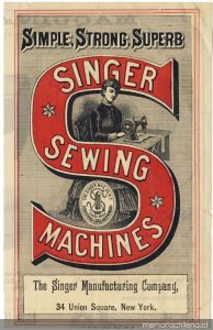 Swanston House - Singer Sewing Machines Advertisement