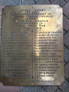 Albert Street Presbyterian Church - Great War Memorial Plaque.j