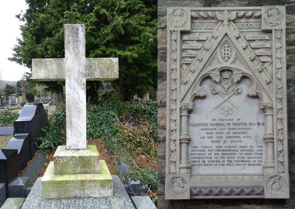 Victoria Cross McMaster Grave at St Columbs